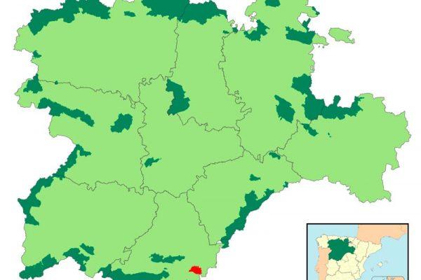 Localización Valle de Iruelas